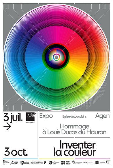 Affiche Inventer la couleur - hommage à Louis Ducos du Hauron