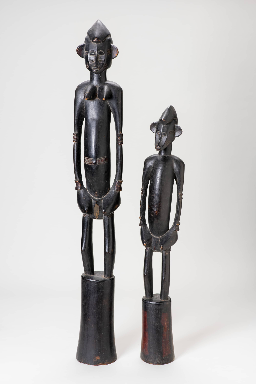 Couple de statues pilon africaines