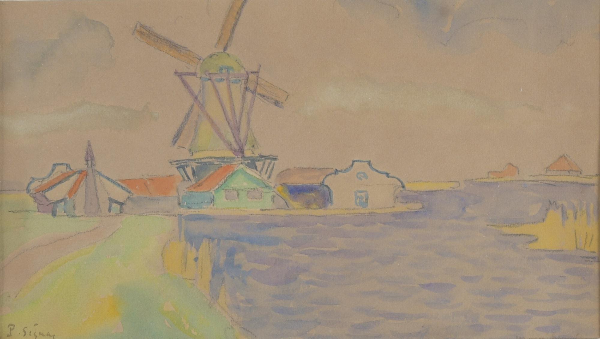 Moulin en Hollande (Monikendam)