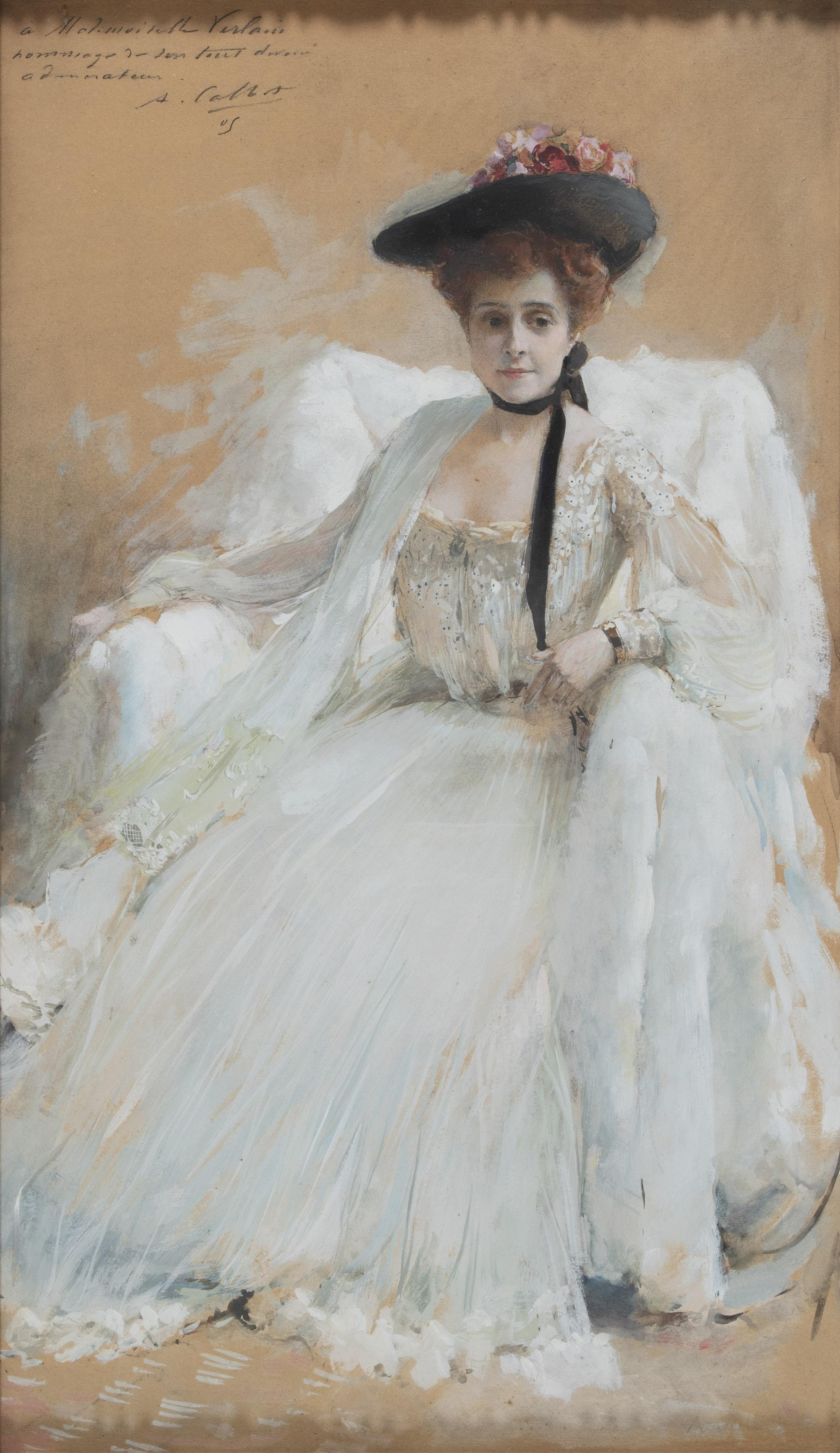 Portrait de Mademoiselle Valentine Verlain Abraham