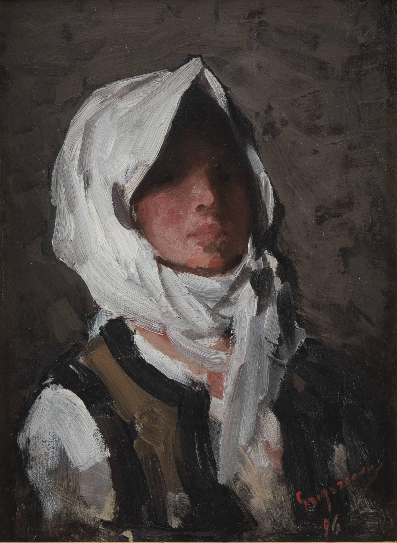Portrait de jeune paysanne