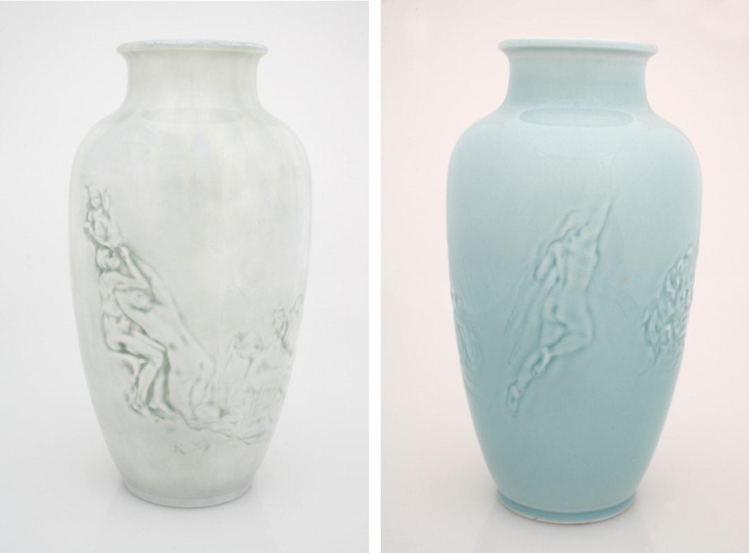 Vases Saïgon : Les Limbes et les Syrènes (1888) / Le Masque (vers 1888-1891)